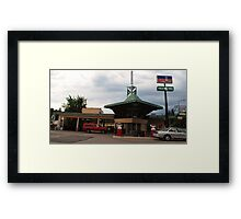 Frank Lloyd Wright Gas station Framed Print