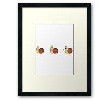 Adventure Time Snail - Small Set Horizontal Framed Print