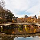 Wrapping Up the Bow: Central Park&#x27;s Bow Bridge Fall Panorama by Dave Bledsoe