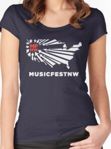 MFNW musicfestnw music festival  Women's Fitted Scoop T-Shirt