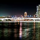Brisbane River Lights 2 by A.David Holloway