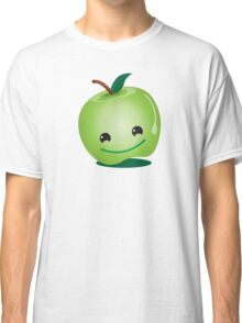 Apple green cutie funny face Classic T-Shirt