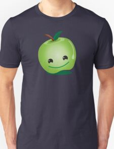 Apple green cutie funny face Unisex T-Shirt