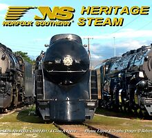 """The Big Three"" - Norfolk Southern Heritage Steam by TrainmasterBob"