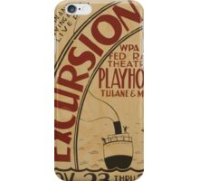 WPA United States Government Work Project Administration Poster 0785 Excursion iPhone Case/Skin