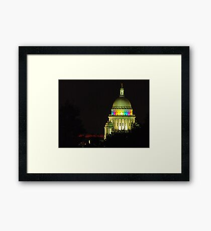 Providence State House dome Framed Print