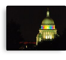 Providence State House dome Canvas Print