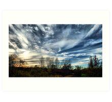 November Skyscape - Buckinghamshire, England Art Print