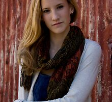 Portrait on location - young woman by NancyBrigham