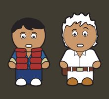Marti and Doc Brown by Chris Bentley
