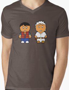 Marti and Doc Brown Mens V-Neck T-Shirt