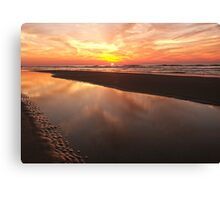 Reflecting by the Sea Canvas Print