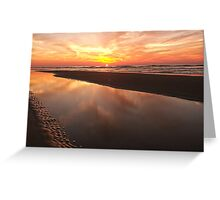 Reflecting by the Sea Greeting Card