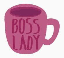 BOSS LADY pink cup of coffee Baby Tee