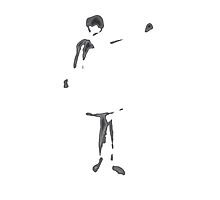 Girl waving by nicola j f hallett