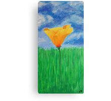 Early Morning Yellow Poppy Canvas Print