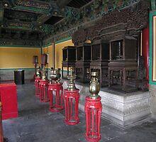 Pavillion interior, Temple of Heaven, Beijing by Philip Mitchell