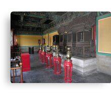 Pavillion interior, Temple of Heaven, Beijing Metal Print