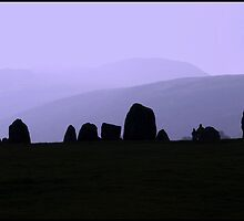 Castlerigg Stone Circle - Sillhouette by Michelle Booth