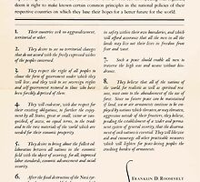 United States Department of Agriculture Poster 0166 The Atlantic Charter Franklin Delano Roosevelt Winston Churchill August 14 1941 by wetdryvac