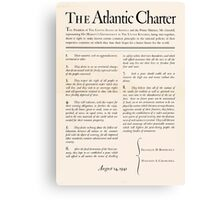 United States Department of Agriculture Poster 0166 The Atlantic Charter Franklin Delano Roosevelt Winston Churchill August 14 1941 Canvas Print