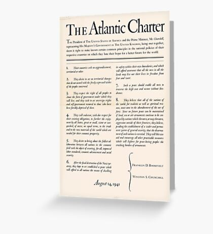 United States Department of Agriculture Poster 0166 The Atlantic Charter Franklin Delano Roosevelt Winston Churchill August 14 1941 Greeting Card