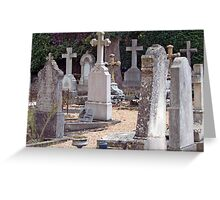 Headstones In Provence Greeting Card