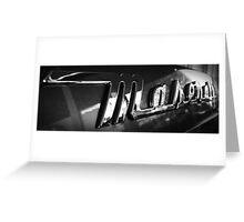 Maserati Badge Greeting Card