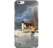 Winter at Point Betsie Lighthouse iPhone Case/Skin