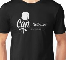 Stan Pines, Can Be Trusted White on Black Unisex T-Shirt