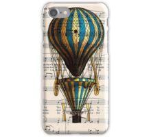 Balloon Vintage Music Notes iPhone Case/Skin