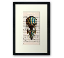 Balloon Vintage Music Notes Framed Print