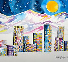Denver Skyline....Christmas storm by Kevin McGeeney