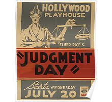WPA United States Government Work Project Administration Poster 0810 Hollywood Playhouse Judgment Day Elmer Rice Poster