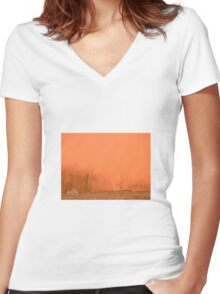 Burnout Women's Fitted V-Neck T-Shirt