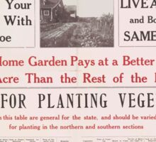 United States Department of Agriculture Poster 0061 Garden Planting Table Georgia Sticker