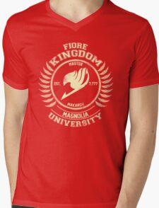 magnolia university cream Mens V-Neck T-Shirt