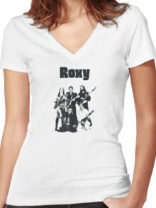 Roxy Music T-Shirt Women's Fitted V-Neck T-Shirt