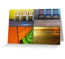 Chairs Collage Greeting Card