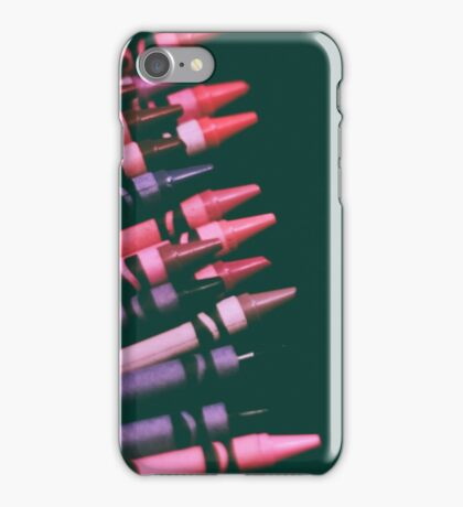 pinks and purples - crayons iPhone Case/Skin