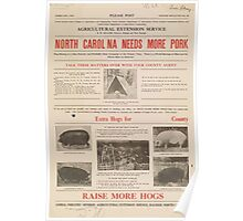 United States Department of Agriculture Poster 0070 North Carolina Needs More Pork Poster