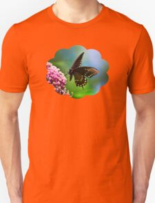 Colorful Spicebush Swallowtail Butterfly Art T-Shirt