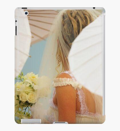 Bride among the parasols iPad Case/Skin