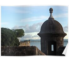 Garita in Old San Juan wall Poster