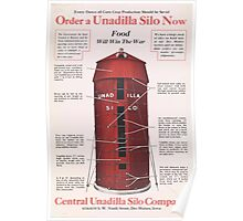 United States Department of Agriculture Poster 0221 Order a Unadilla Silo Now Food Will Win the War Poster