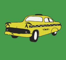 Cute Yellow Cab One Piece - Short Sleeve