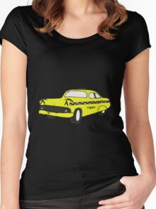 Cute Yellow Cab Women's Fitted Scoop T-Shirt