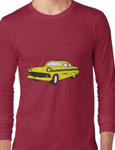 Cute Yellow Cab Long Sleeve T-Shirt