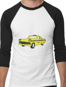 Cute Yellow Cab Men's Baseball ¾ T-Shirt