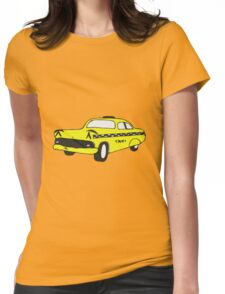 Cute Yellow Cab Womens Fitted T-Shirt